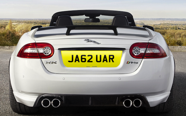 Personalised car number plates